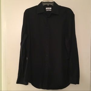 M 34/35 Slim Fit Black Button Down | Calvin Klein